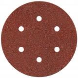 Disque auto-agrippant SCID - 6 trous - Grain 40 - Diamètre 150 mm - Vendu par 5