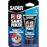 Colle hybride Fixer sans percer 100 % matériaux Sader -  Tube 50 g