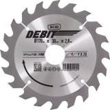Lame au carbure pour scie circulaire SCID - Epaisseur 2,8 mm - 20 dents - Diamètre 170 mm - Alésage 30 mm