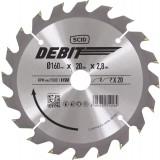 Lame au carbure pour scie circulaire SCID - Epaisseur 2,8 mm - 20 dents - Diamètre 160 mm - Alésage 20 mm
