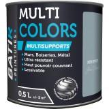 Peinture multi-supports satin soyeux Batir - Gris plomb - 0,5 l