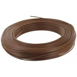 Fil H07 V-U 1,5 mm² - Couronne 100 m - Marron