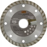 Disque diamanté béton granit bricolage SCID - Diamètre 115 mm