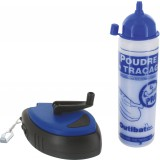 Lot traceur cordeau rapido et poudre bleu Outibat - 200 g