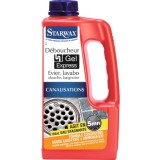 Déboucheur gel express 5 minutes pour canalisations Starwax - Bidon 1 l