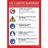 Panneau Les gestes barrières - Rigide  - A4
