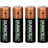 Piles rechargeables AA Duracell - Blister de 4 - LR06 - 1300 mAh - Alcaline