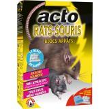 Rats souris blocs appâts Acto - 12 blocs de 20 g