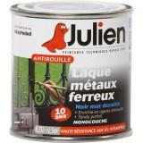 Laque antirouille Julien - Noir mat - Boîte 250 ml