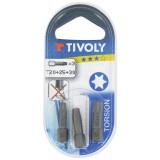 Embout torsion pour vis étoilée Tivoly - T25 - Vendu par 1