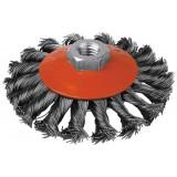 Brosse cuvette mèches acier torsadées SCID - Diamètre 115 mm