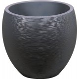 Pot plastique EGG Graphit EDA - Gris anthracite - 46 l