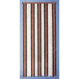 Rideau de porte chenille Florence - 120 x 220 cm - Beige / bronze / brun