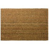 Tapis coco naturel uni - Bordé - Dimensions 40 x 60 cm