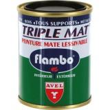 Peinture mate lessivable Flambo - Boîte 100 ml - Noir