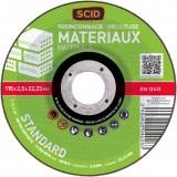 Disque à tronçonner standard SCID - Matériaux - Diamètre 115 mm - Alésage 22,2 mm
