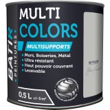 Peinture multi-supports mat poudré Batir - Gris fumé- 0,5 l