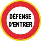 Panneau de signalisation rond Novap - Défense d'entrer - Haute visibilité - Diamètre 30 cm