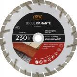 Disque diamanté matériaux durs et abrasifs SCID - Diamètre 230 mm