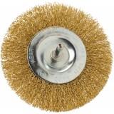 Brosse circulaire acier laitonné ondulé SCID - Diamètre 100 mm