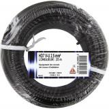Fil H07 V-U 2,5 mm² Dhome - Longueur 25 m - Noir