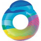 Bouée avec dossier et lumière LED Swim Bright Bestway - Longueur 118 cm - Largeur 117 cm
