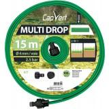 Tuyau d'arrosage Multi Drop Cap Vert - Longueur 15 m