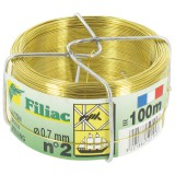 Fil laiton mou Filiac - Longueur 100 m - Diamètre 0,7 mm