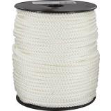Drisse polyamide tressé blanc Corderies Tournonaises - Longueur 100 m - Diamètre 5 mm