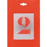 Jeu de chiffre pochoirs alphabet aluminium ajouré Uny - Dimensions 80 mm