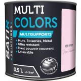 Peinture multi-supports satin soyeux Batir - Rose trémière - 0,5 l