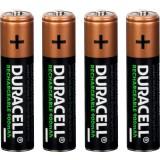 Piles rechargeables AAA Duracell - Blister de 4 - LR03 - 900 mAh - Alcaline
