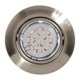 Spot orientable Led Eglo - Nickel mat