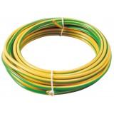 Fil H07 V-U 2,5 mm² Dhome - Longueur 5 m - Vert / jaune