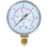 Manomètre 12 bar Cap Vert - Radial 8 x 13