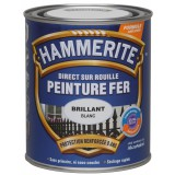 Peinture brillante Hammerite - Boîte 250 ml - Blanc brume