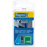 Agrafe inox n°140 Rapid Agraf - Hauteur 10 mm - 650 agrafes
