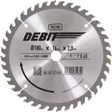 Lame au carbure pour scie circulaire SCID - Epaisseur 2,8 mm - 40 dents - Diamètre 180 mm - Alésage 16 mm
