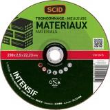 Disque à tronçonner usage fréquent SCID - Matériaux - Diamètre 230 mm - Alésage 22,2 mm