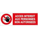 Panneaux information / obligation divers Novap - Accès interdit aux PNA