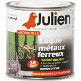 Laque antirouille Julien - Blanc satiné - Boîte 250 ml
