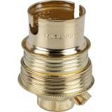 Douille B22 acier laitonné sans passage de fil L'Ebénoïd - Raccord diamètre 10 mm - Double bague