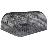 Nasse à rat multiprise forme rectangulaire Masy - Grillage zingué - Dimensions 40 x 23 x 18 cm - Maille 25 x 12 mm