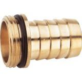 Embout cannelé 6 pans droit mâle Cap Vert - Filetage 20 x 27 mm - Diamètre 15 mm
