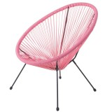 Fauteuil rotin - Acapulco - Corail