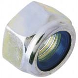 Ecrou hexagonal indesserrable acier zingué  - Diamètre 4mm - 10pces - Fixpro