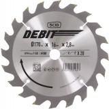 Lame au carbure pour scie circulaire SCID - Epaisseur 2,8 mm - 20 dents - Diamètre 170 mm - Alésage 16 mm
