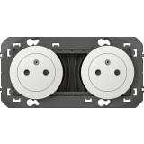 Double prise composable 2P+T surface précâblées Dooxie Legrand - Blanc