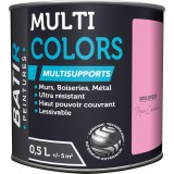 Peinture multi-supports satin soyeux Batir - Rose camélia - 0,5 l
