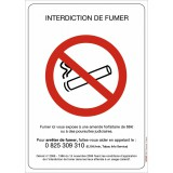 Plaque rectangulaire d'interdiction Novap - Interdiction de fumer
